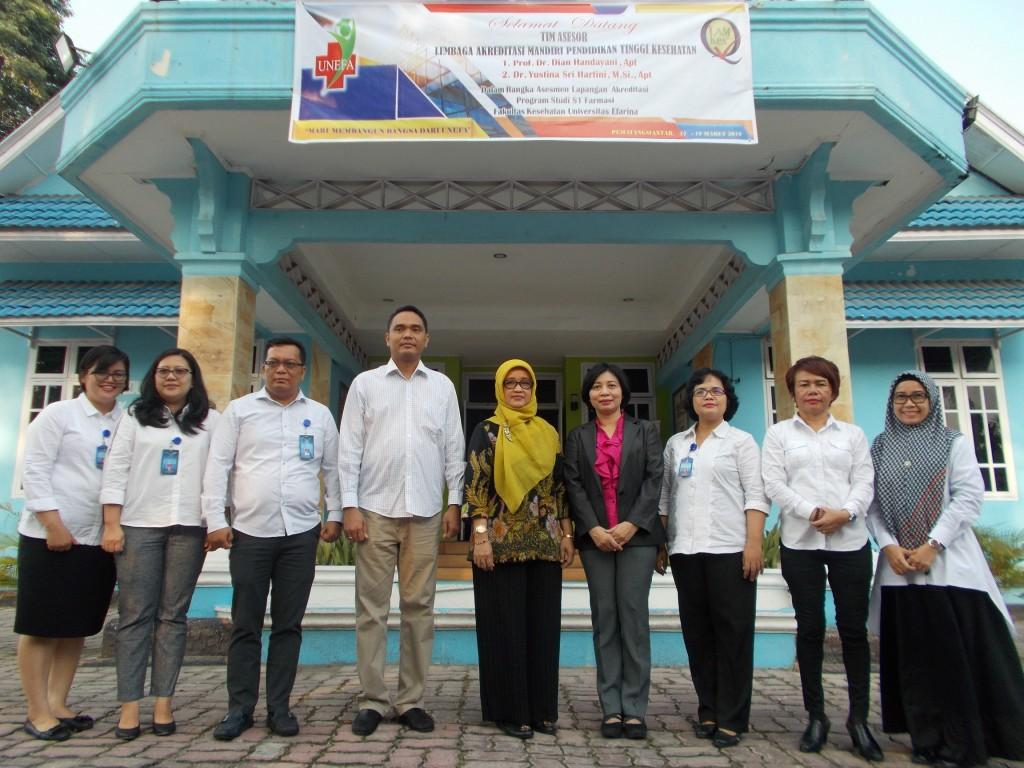 Re Akreditasi Program Studi S1 Farmasi Fakultas Kesehatan Universitas Efarina